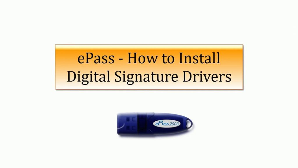 How to Install epass 2003 Auto USB Token