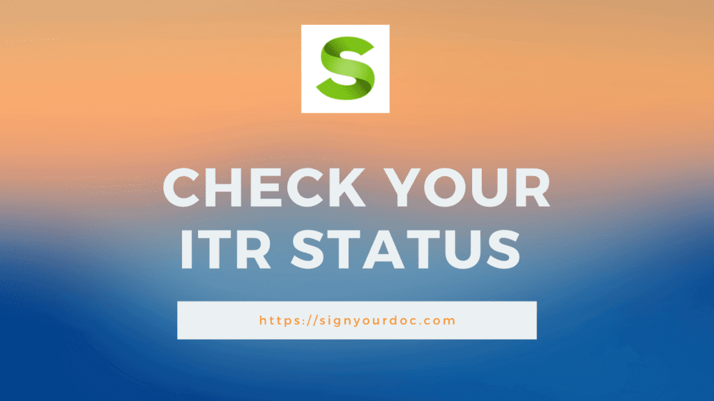 Check Your ITR Status