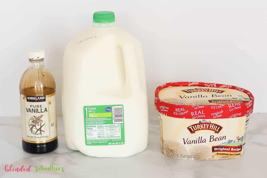 Vanilla Milkshake Ingredients