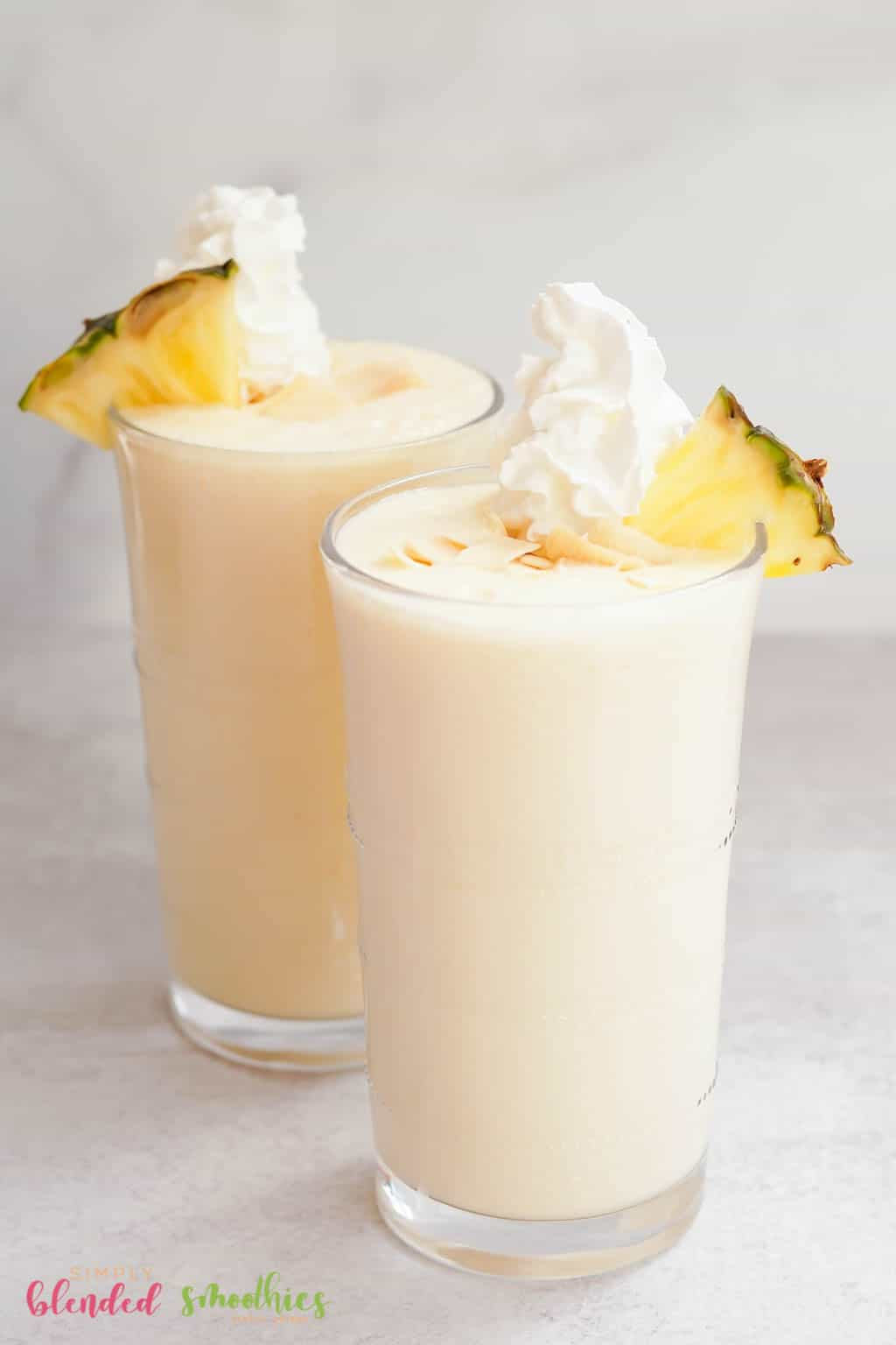 milkshake made with pineapple