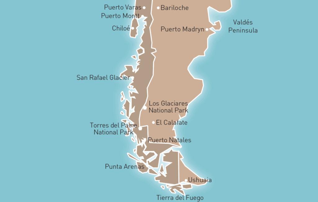 Patagonia Tour Map
