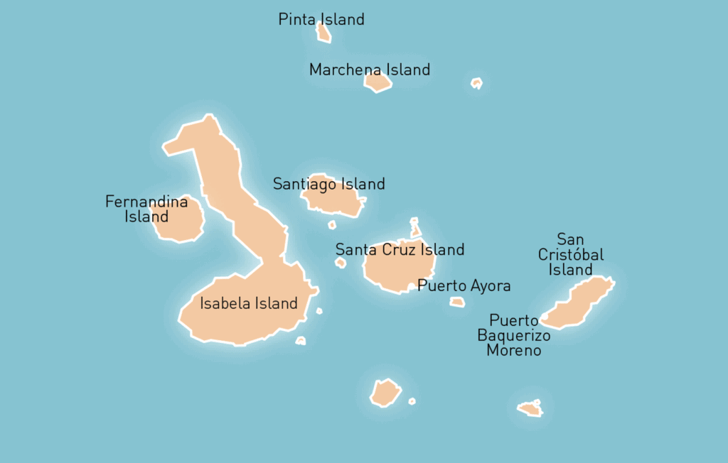 Galapagos Island Tour Map