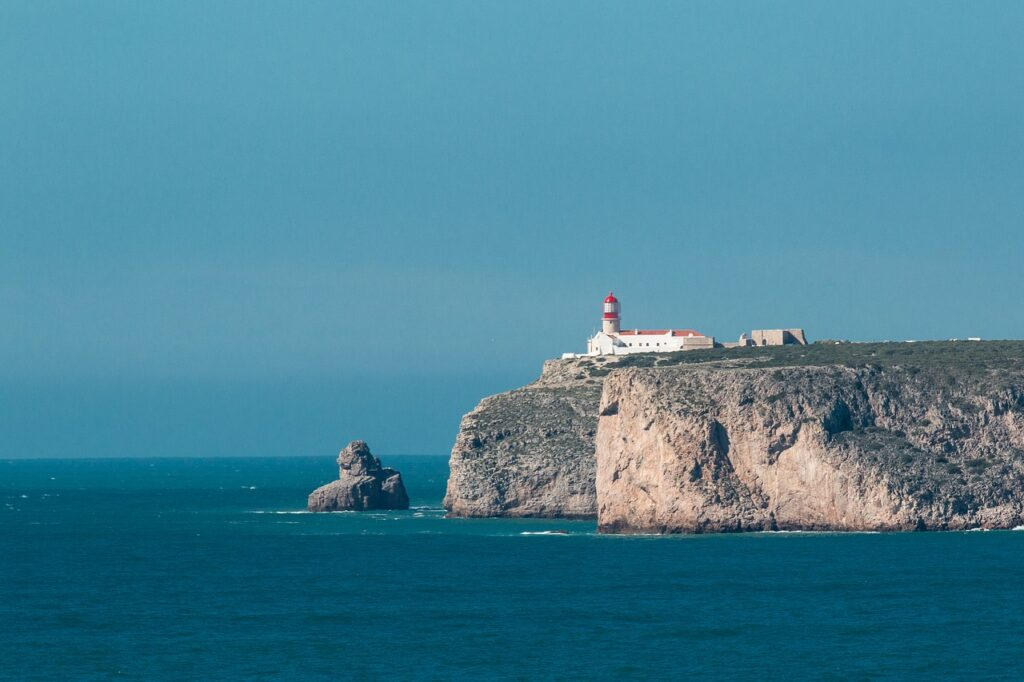 Cabo de São Vicente (the Cape of Saint Vincent) is the most southwesterly point of Portgual.