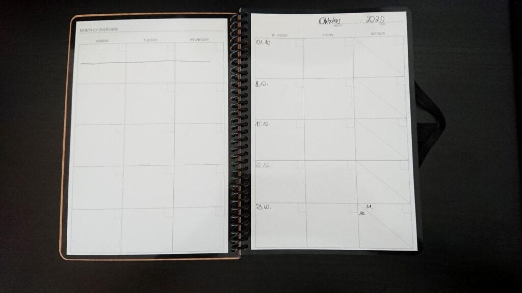Der Monatsplaner im Do-Book von Bambook