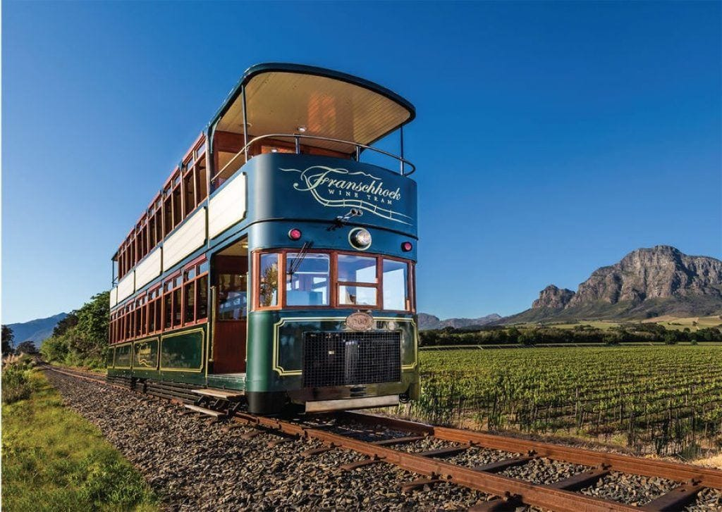 franschhoek valley wine tram