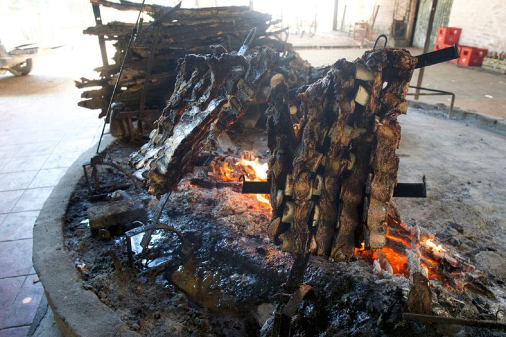 Argentinean bbq on a ranch