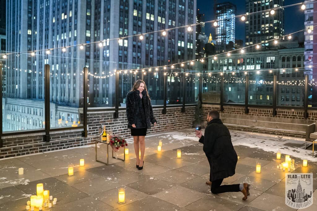 proposal on rooftop
