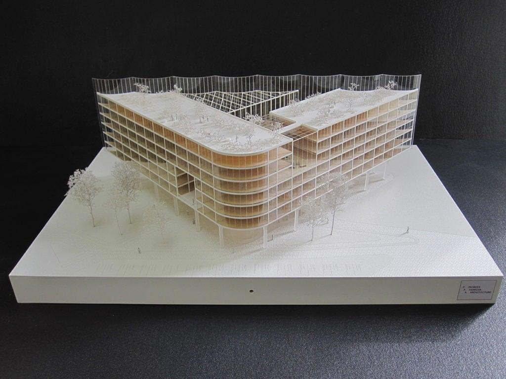 maquette du projet de l'île seguin par Jacques ferrier