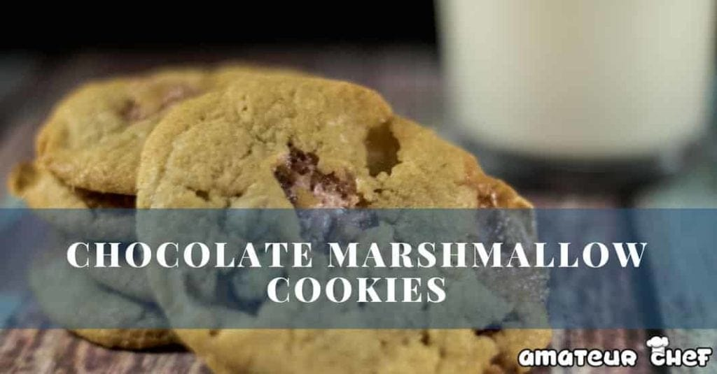 Chocolate and Marshmallow cookies - easy, yet incredibly tasty marshmallow cookies. Feature Images | AmateurChef.co.uk