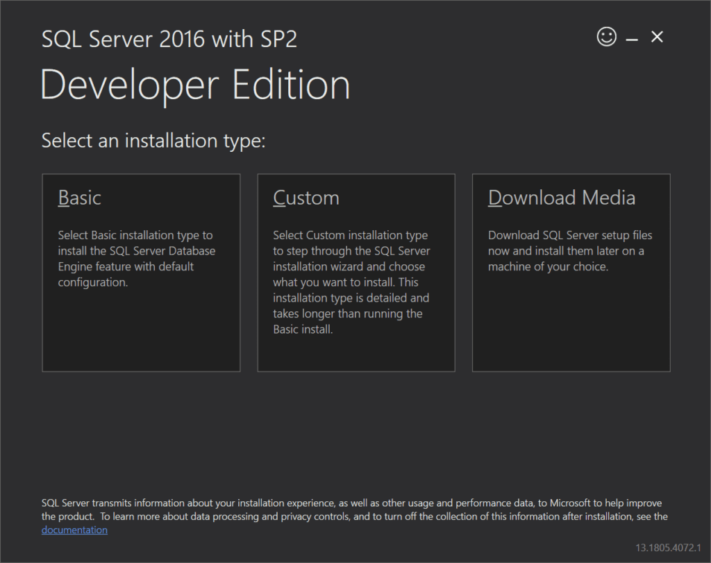 SQL Server Developer Edition with SP2