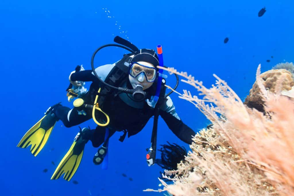 Scuba diving with a personal decompression calculator
