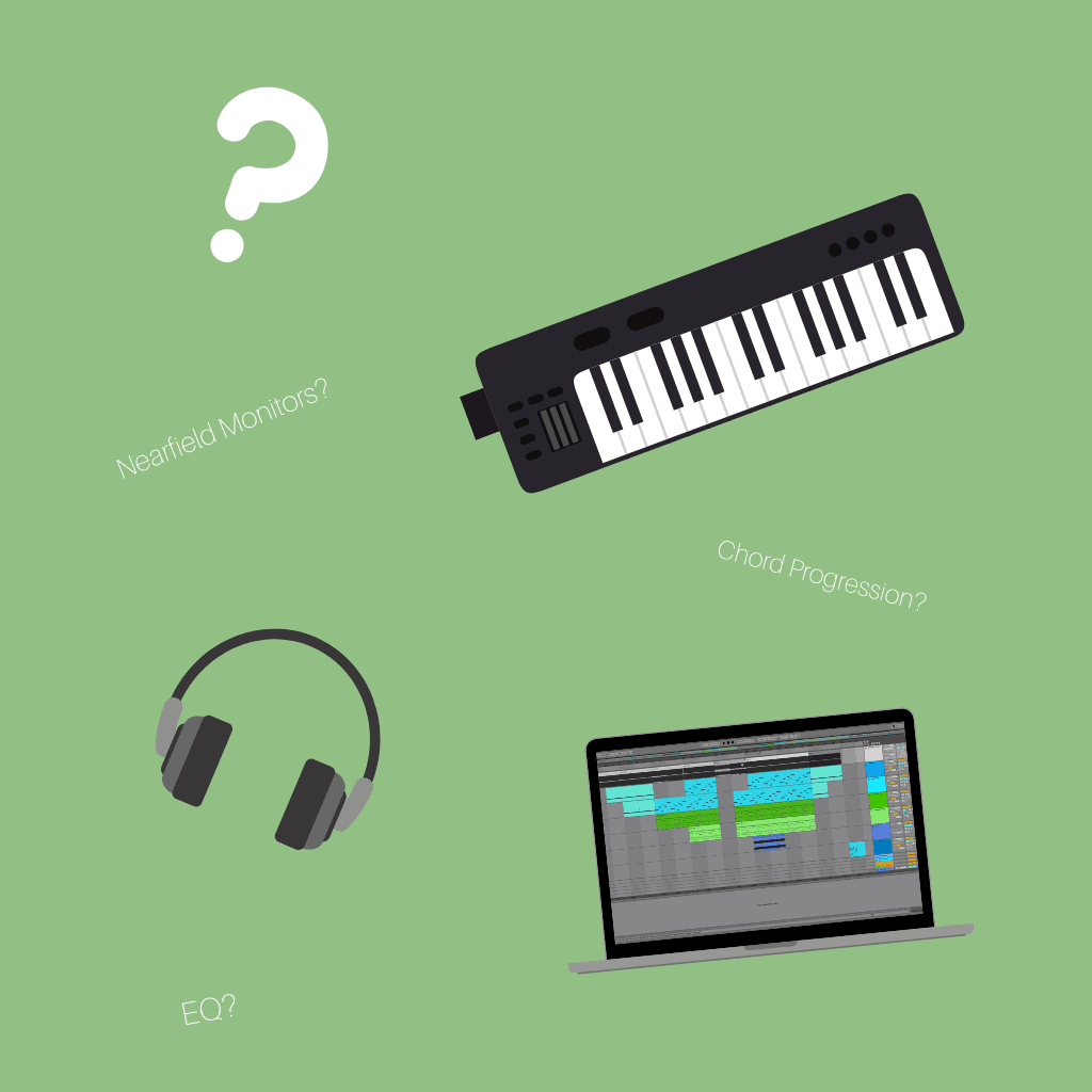 Keyboards, Headphones, Question Mark