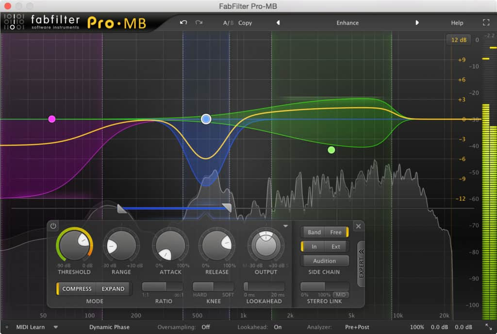 FabFilter Pro-MB Interface