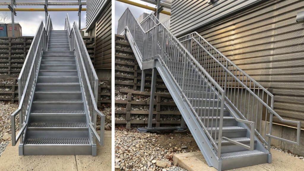 Erectastep Commercial Grade Stair Installation