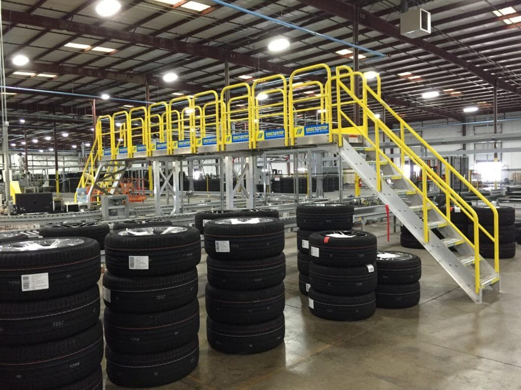 OSHA Compliant Stairs at Tire Distribution Center