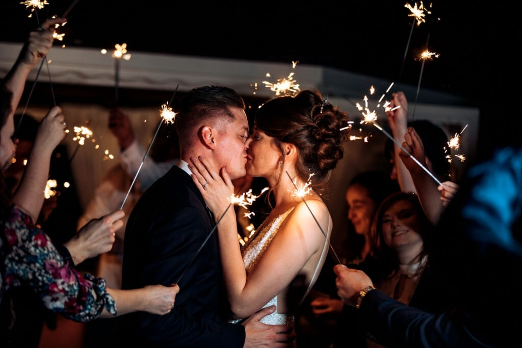 Thornton Hall Hotel Wedding Photography Sparklers