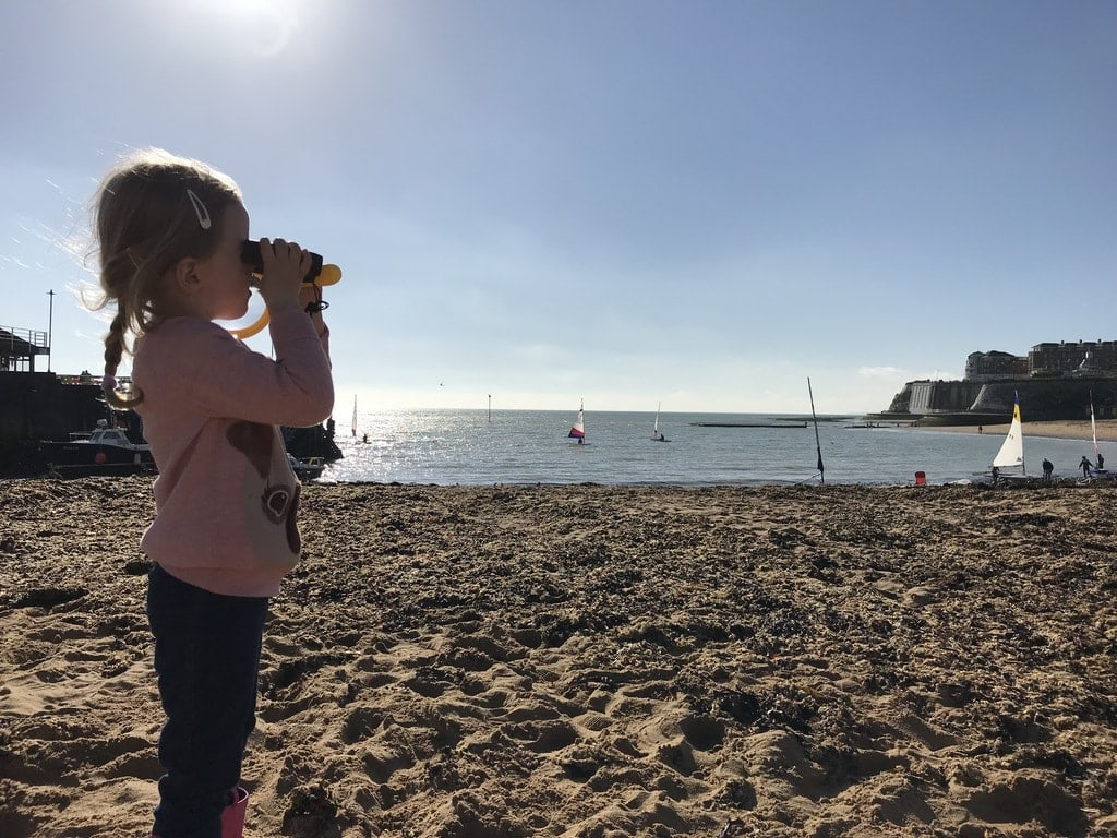 Visit Thanet, Broadstairs, Little girl on beach