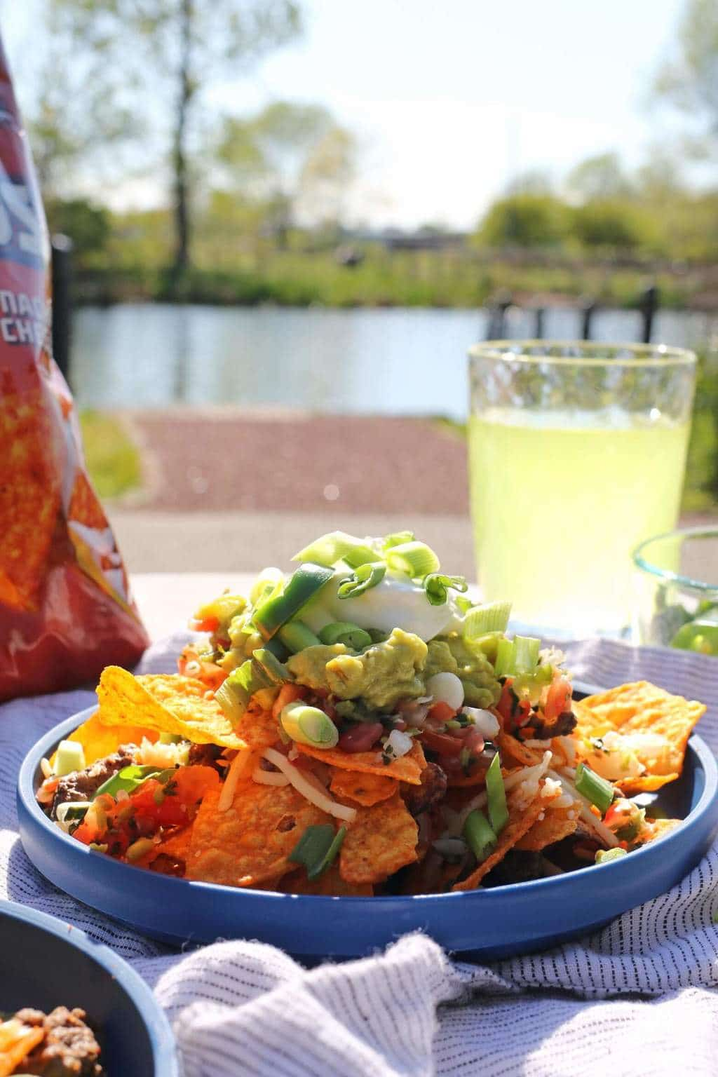 Say yes to summer with this easy recipe for Quick Summer Doritos Nachos. Whether you are lakeside or on a boat, this is easy to make and delicious!