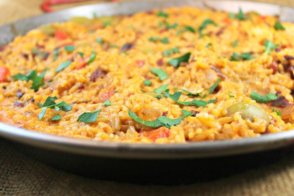 Spanish Rice with Saffron Cream