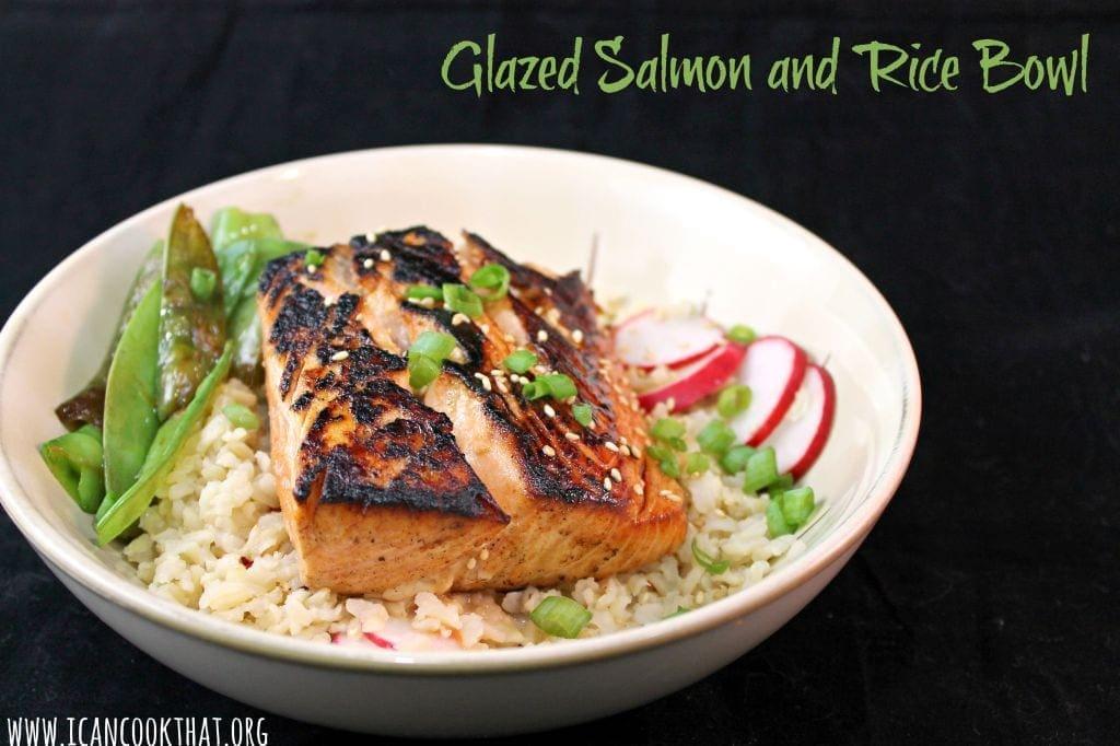 Glazed Salmon and Rice Bowl