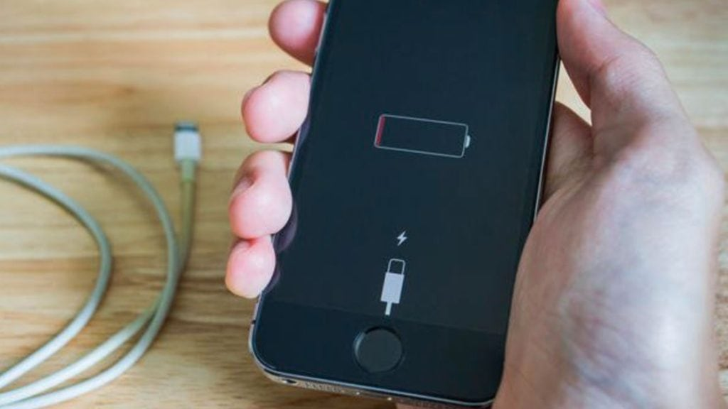 After a few minutes, you should see the charging screen