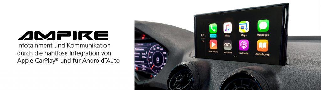 Carplay-Androidauto-smartphone-integration Ampire Hardware Nachrüstung