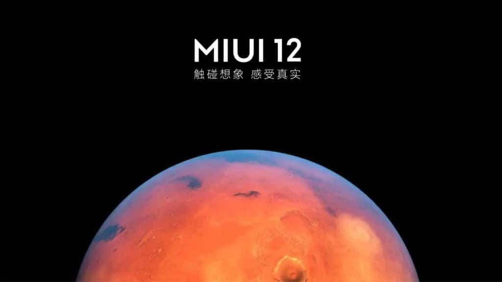 MIUI 12 smartphone
