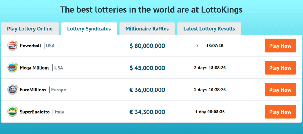 LottoKings Syndicates