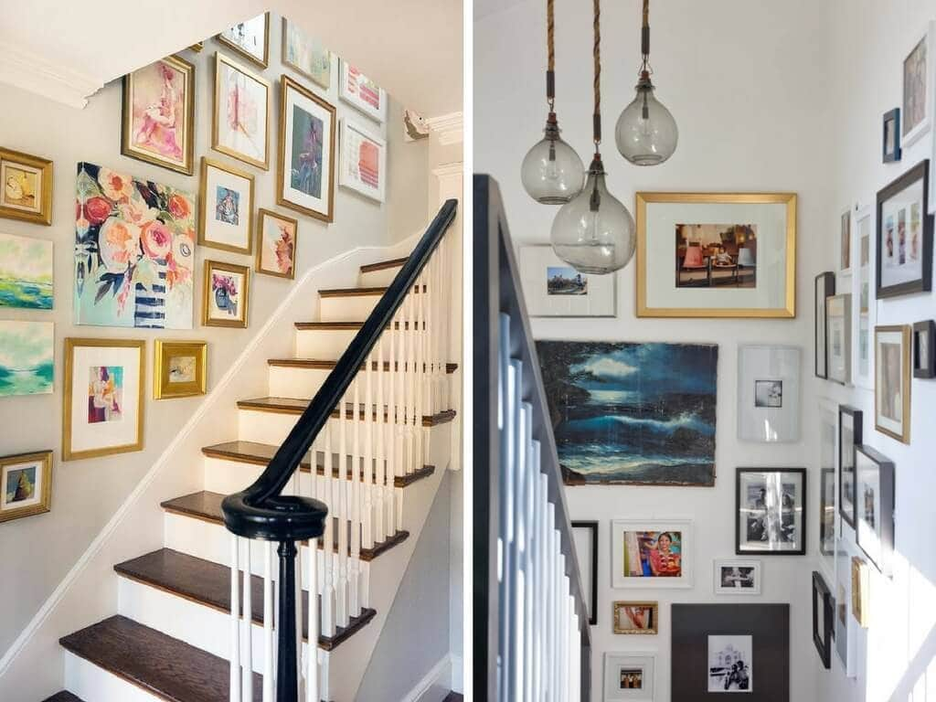 Tips and tricks on how to decorate a staircase - great ideas for when you're feeling stumped