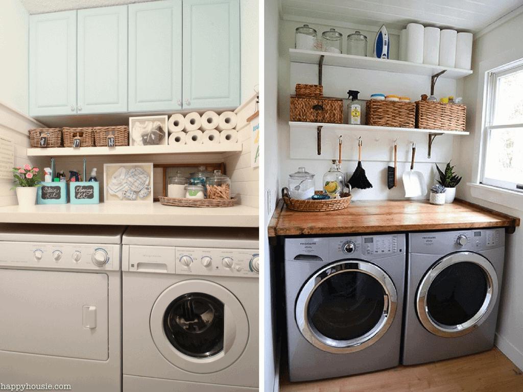 12 Inspiring Small Laundry Room Ideas - Love & Renovations on Laundry Room Decor Ideas  id=33715