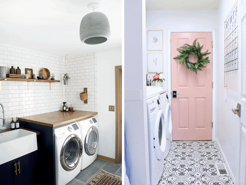Ideas and inspiration for a small laundry room