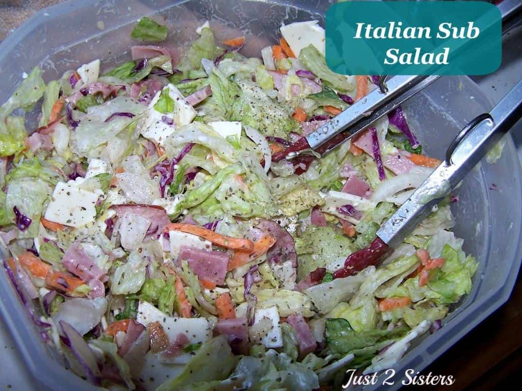 Italian Sub Salad is an easy meal if you need something quick to satisfy the whole family.