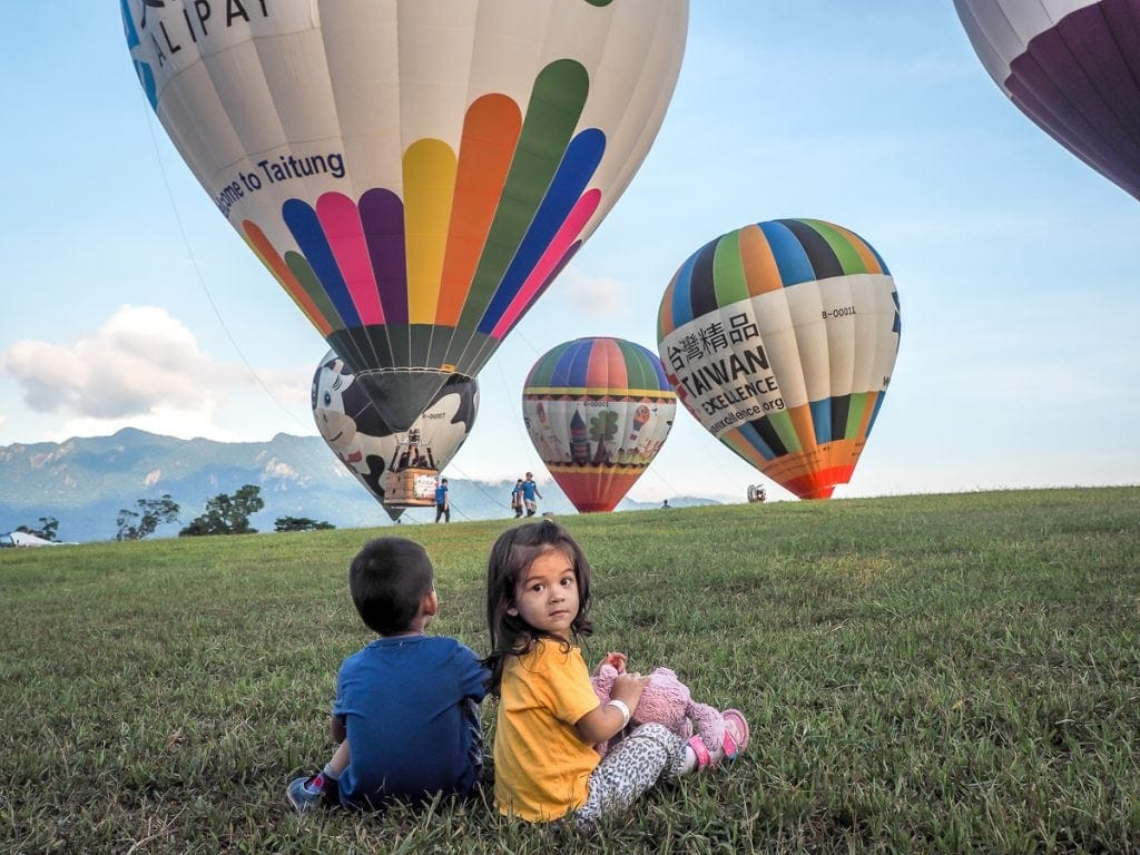 Taitung International Balloon Fiesta in Luye, Taiwan