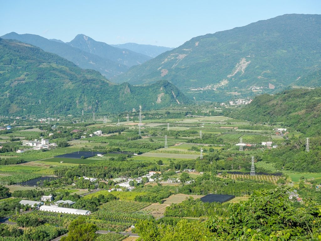 Gorgeous rural scenery in Luye, Taitung