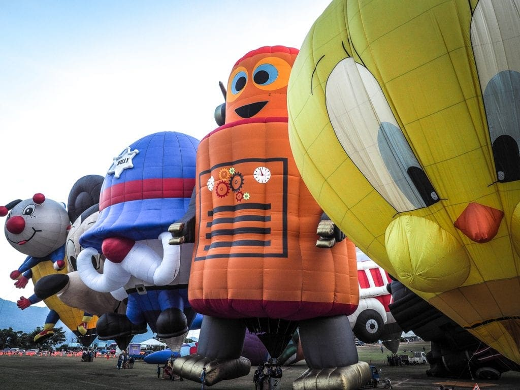 Creative balloons at the Taiwan Hot Air Balloon in Luye, Taitung