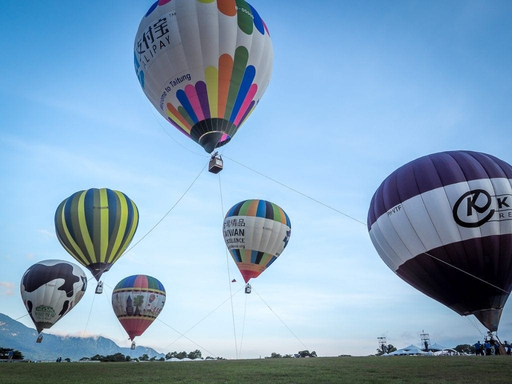 Learn how to ride a hot air balloon in Taiwan
