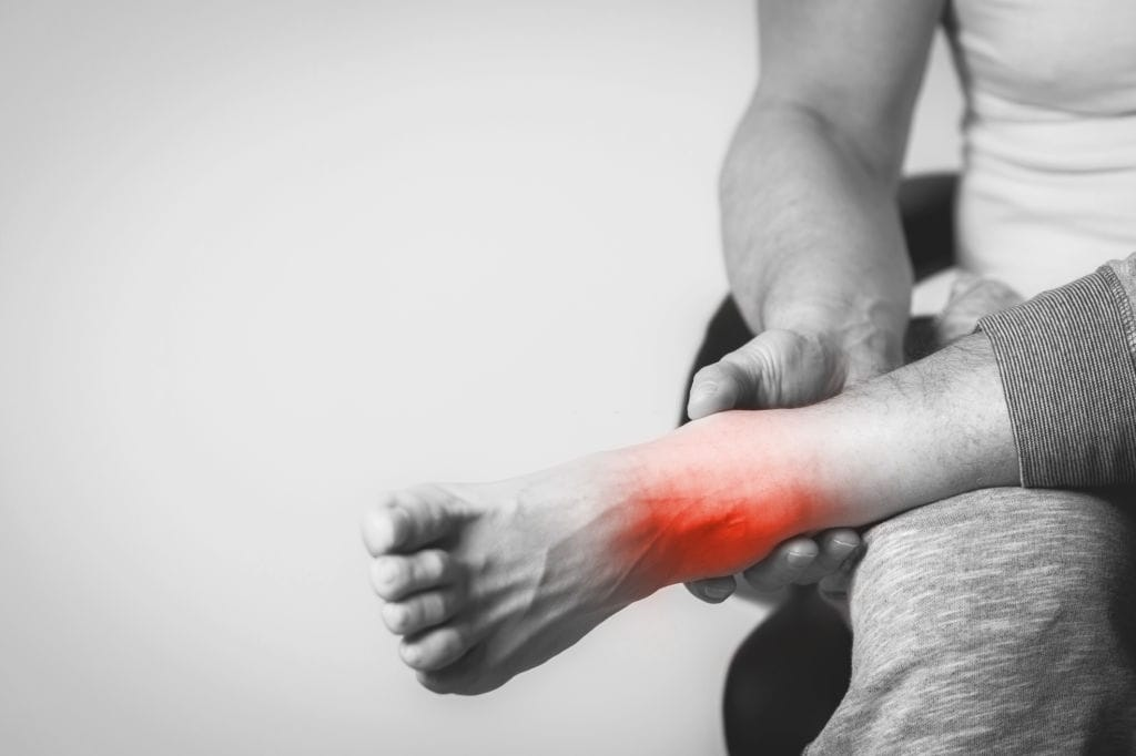 ankle pain from inversion table