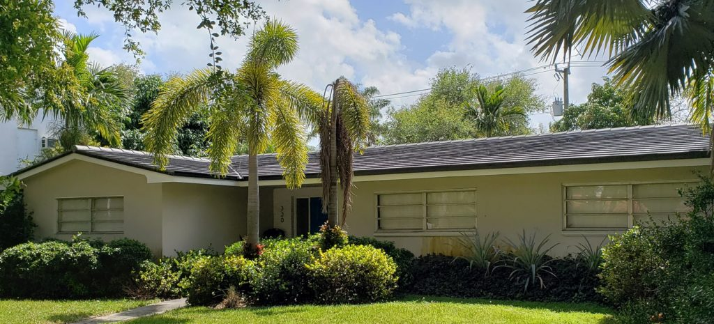 Concrete tile roof in Miami Shores
