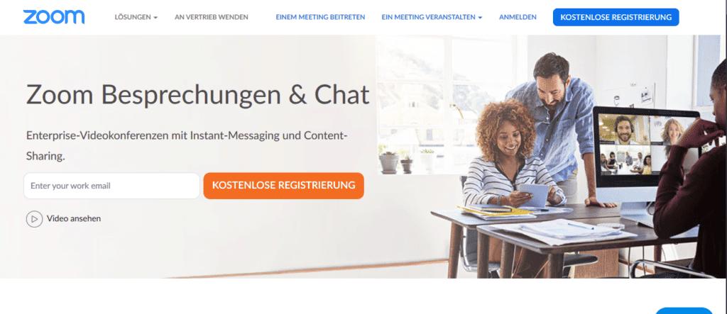 Zoom Homepage