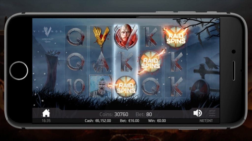 vikings mobile screenshot video slot netent