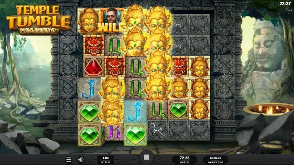 temple tumble game screenshot big win video slot relax gaming