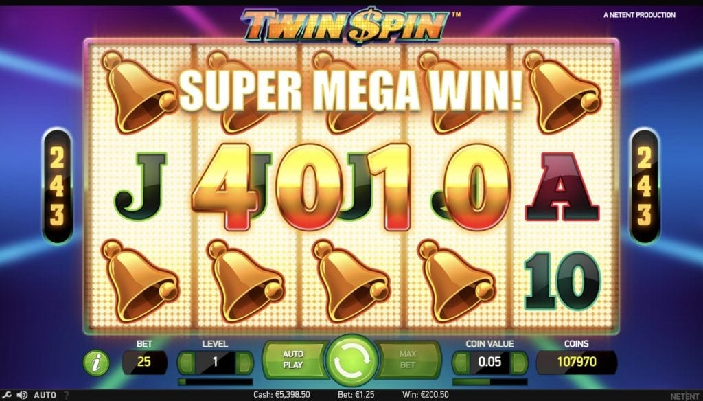 twin spin screenshot video slot netent