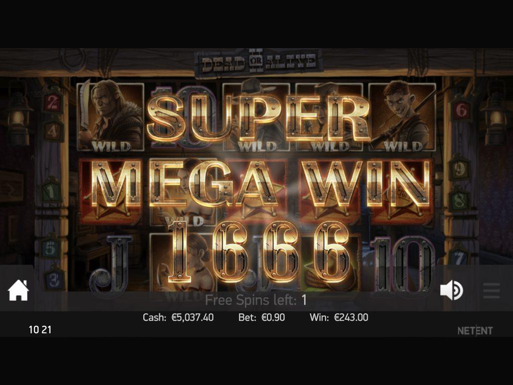 dead or alive 2 screenshot mega win video slot netent