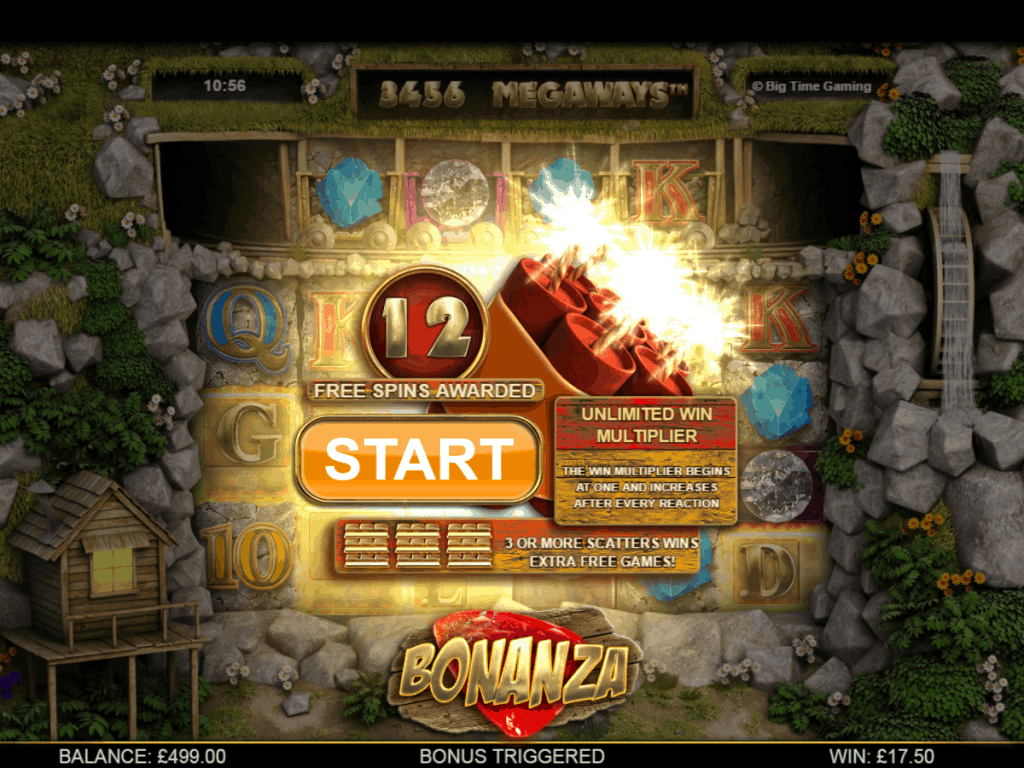 bonanza freespins screenshot video slot big time gaming