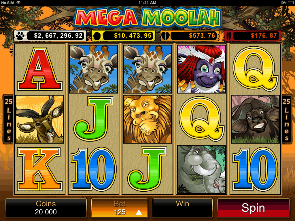 mega moolah game screenshot video slot microgaming