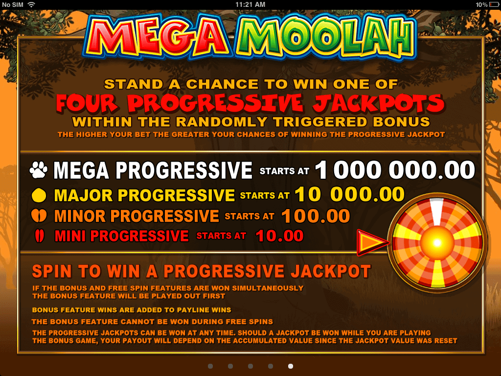mega moolah paytable screenshot video slot microgaming