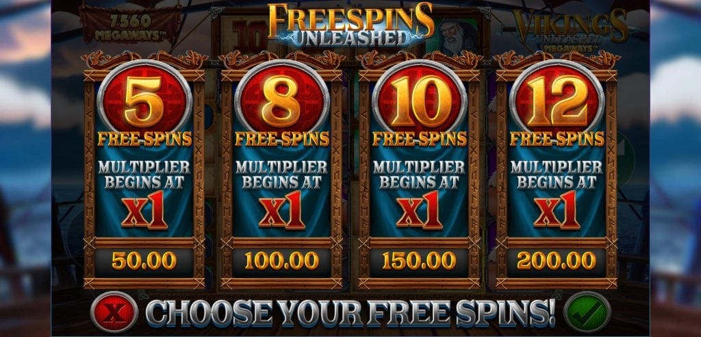 vikings unleashed freespins screenshot video slot blueprint