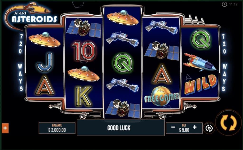 Asteroids Slot Screenshot