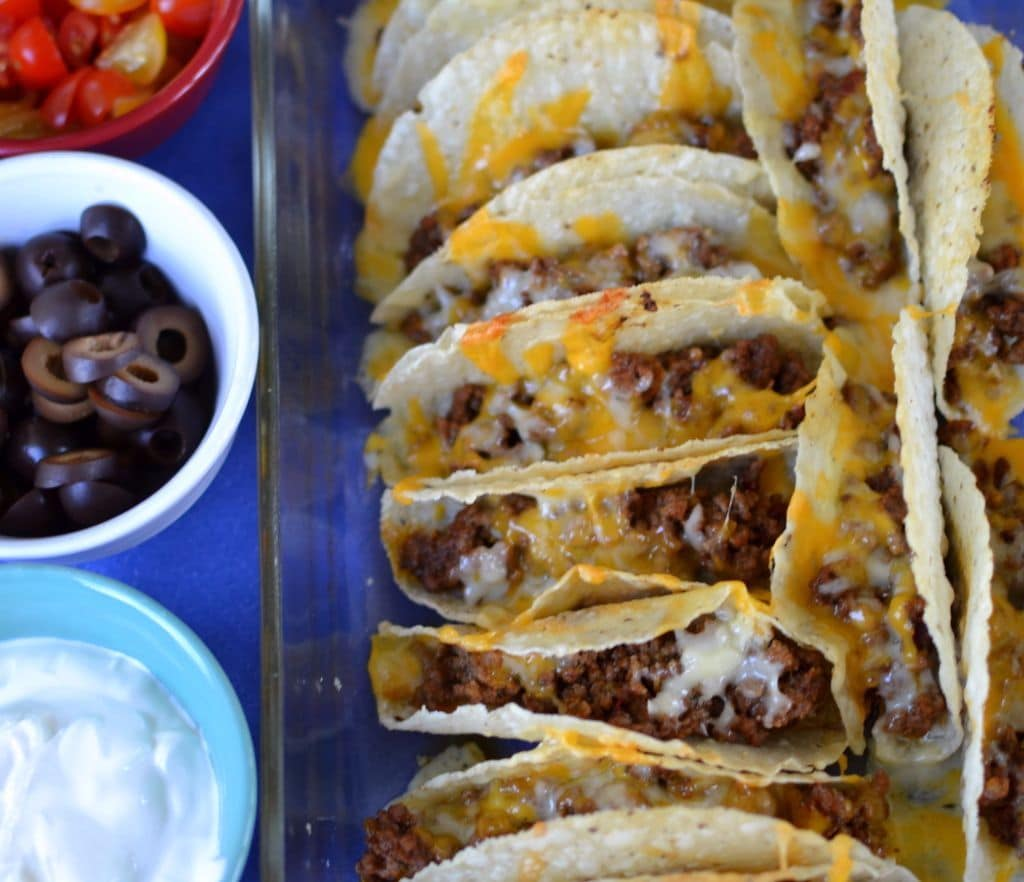 Baked Beef & Cheese Tacos