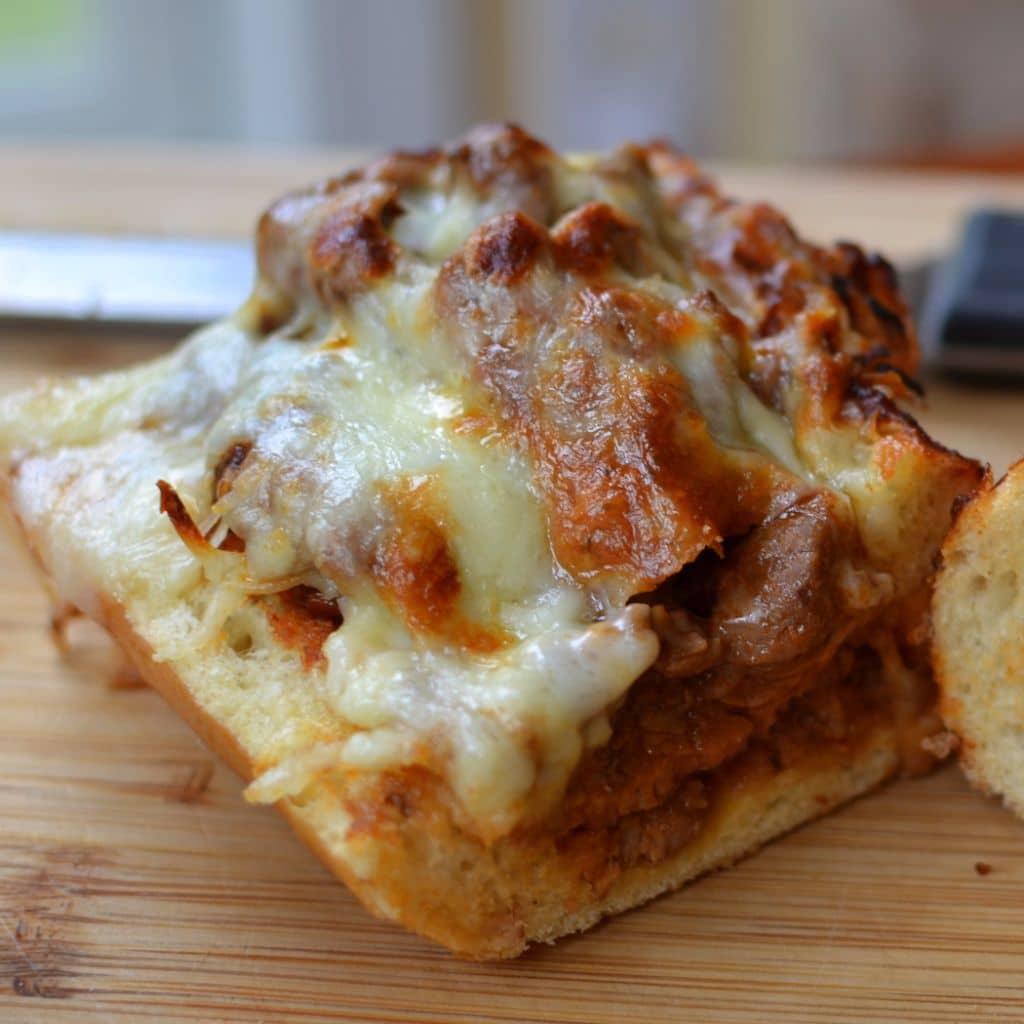 Cheesy Steak Stufffed French Bread (8)